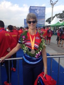 picture of Margie at World Championships in China