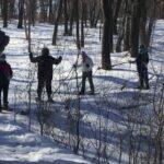 Club members snowshoeing at Lebanon Hills Regional Park in Eagan